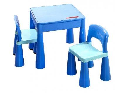 Dětský stoleček a židličky Tega Mamut-modrá