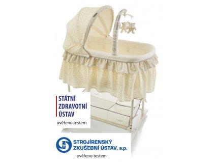 detska kolebka babypoint regina yellow