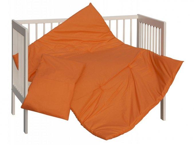 detsky set perinka a polstrar scarlett vega 100 x 135 cm oranzova
