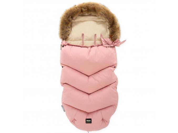 detsky fusak do kocarku zopy fluffy old pink