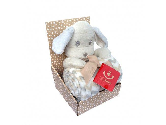 detska deka s plysovou hrackou bobobaby stenatko