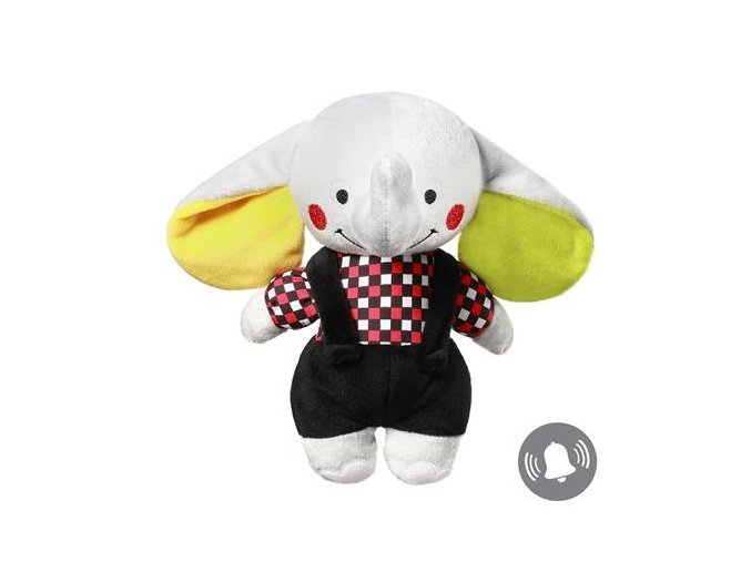 detska plysova hracka babyono s chrastitkem slon andy