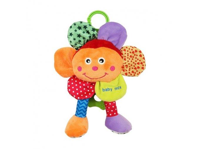 Dětská hračka na kočárek Baby Mix se zvukem Květinka