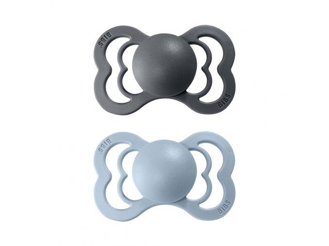 detske siditko bibs supreme z prirodniho kaucuku velikost 1 2 kusy iron baby blue