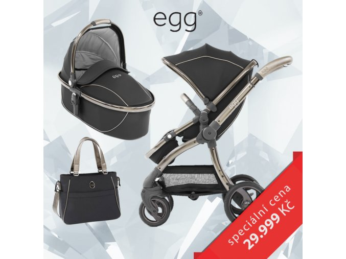 set detsky kocarek babystyle egg shadow black 2