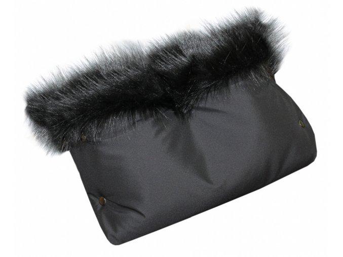 rukavnik na kocarek emitex luxury soft cerna