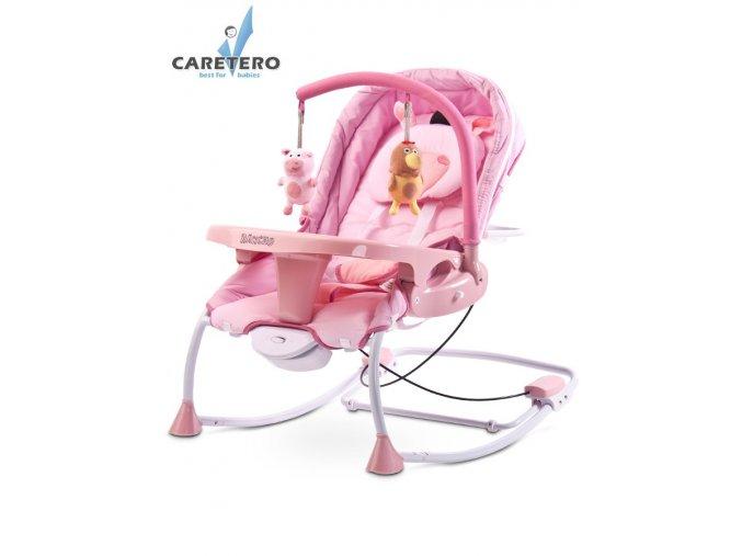 detske lehatko caretero rancho pink