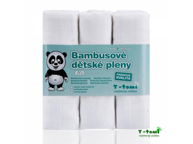 Dětské pleny T-Tomi Bílé bambusové