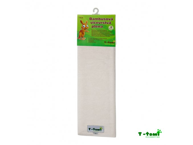 Dětské pleny T-Tomi vícevrstvé, bambusové S