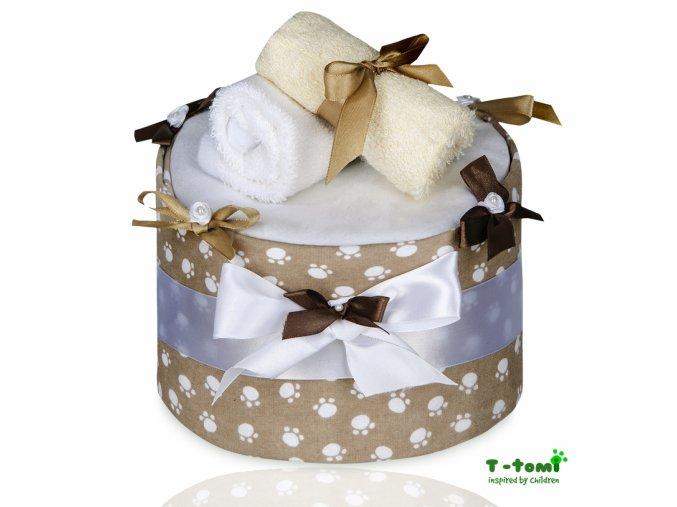 Plenkový dort T-Tomi Tlapky béžové-velký