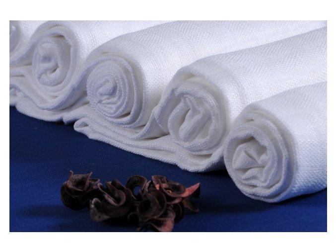 Dětské pleny Prem bavlněné 80 x 80 cm-5 kusů bílé