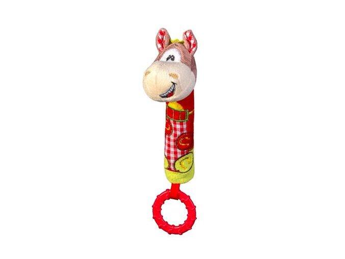 Dětská plyšová hračka BabyOno Koník pískací s kousátkem