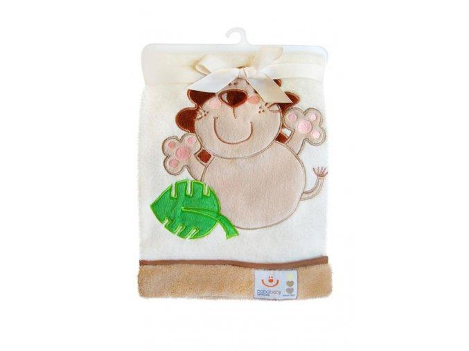 Dětská deka Bobobaby Vyšitý obrázek 76 x 102 cm