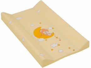 detska prebalovaci podlozka tvrda scarlett zluta 70 x 50 cm
