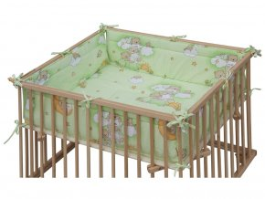 hraci matrace scarlett mracek do ohradky scarlett honzik 98 x 78 cm zelena