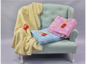 detska spanelska deka bobobaby s extra vzorem 80 x 110 cm modra