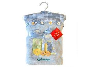detska deka bobobaby knoflicky 76 x 102 cm modra