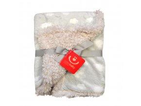 detska deka bobobaby oboustranna mraky 75 x 100 cm seda