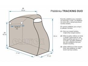 plastenka na kocarek emitex tracking duo