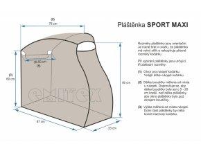 plastena na kocarek emitex sport maxi