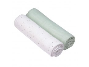 detska plena lassig swaddle blanket bavlnena 120 120 cm 2 kusy little spookies olive