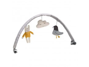 hrazda s hrackami k detskemu lehtaku nuna leaf curv toy bar revesible