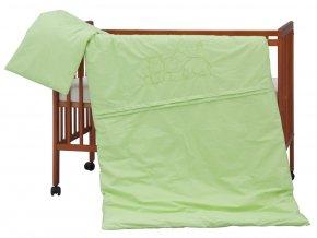 detske povleceni do postylky scarlett hrosik 2 dilne 100 x 135 cm zelena