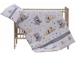 detske povleceni do postylky scarlett patrik 2 dilne 100 x 135 cm bezova