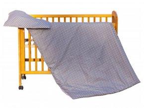 detske povleceni do postylky scarlett puntik 2 dilne 100 x 135 cm hneda