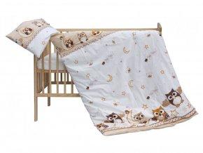 detske povleceni do postylky scarlett sovicka 2 dilne 100 x 135 cm