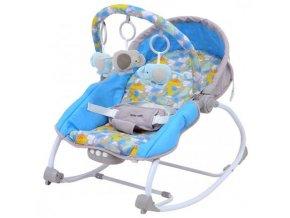 detske lehatko baby mix sloni s vibraci a hudbou modre dino