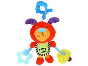 detska hracka na kocarek baby mix s hracim strojkem pejsek