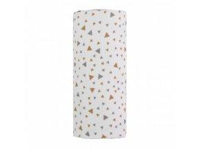 detska plenkova osuska velka t tomi bavlnena beige triangles 120 x 120 cm