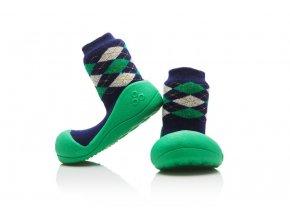 detske boticky attipas argyle silna ponozka green m