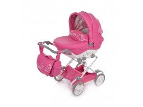 detsky kocarek pro panenky junama mini 06 ruzova