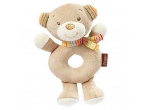 detske plysove chrastitko baby fehn rainbow medvidek