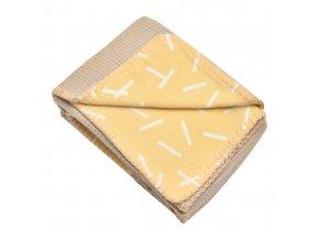 detska deka lodger dreamer honeycomb flannel 75 x 100 cm spring