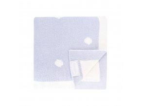 luxusni detska pletena deka snuggle 90 x 70 cm modra