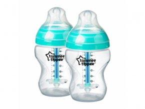 kojenecka lahev tommee tippee advanced anti colic silikon 0+ 260 ml 2 kusy modra