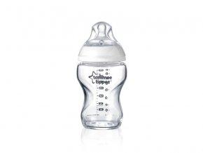 kojenecka lahev tommee tippee c2n sklenenena silikon 0+ 250 ml