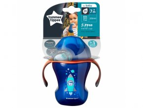 detsky netekouci hrnecek s pitkem tommee tippee explora easy drink +6 m 230 ml modra 2