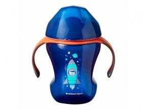detsky netekouci hrnecek s pitkem tommee tippee explora easy drink +6 m 230 ml ruzova