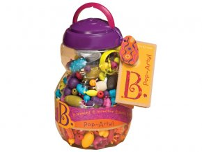 detska edukacni hracka b toys spojovaci korale a tvary pop arty 500 kusu