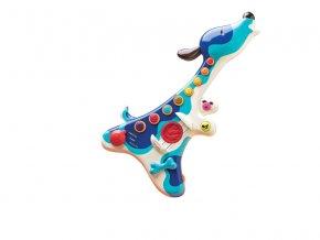 detska edukacni hracka b toys elektronicka kytara pejsek woofer