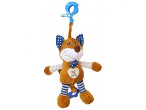 detska hracka na kocarek baby mix s hracim strojkem liska modra