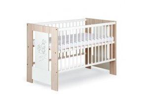 Dřevěná dětská postýlka Klupš Safari Zajíček 120 x 60 cm