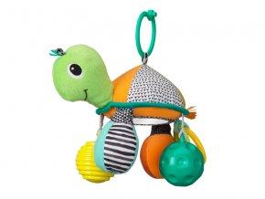 detska hracka na kocarek infantino zelva se zrcatkem a micky