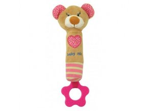 detska plysova hracka baby mix medvidek s piskatkem