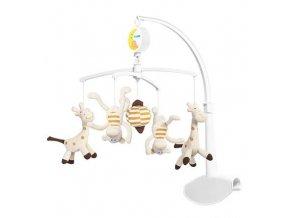 detsky kolotoc nad postylku babyono plysovy zirafy a opice