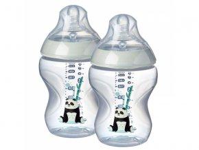 kojenecka lahev tommee tippee c2n s obrazky silikon +0M 260 ml 2 kusy ruzova